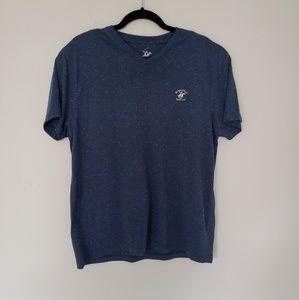 Beverly Hills Polo Club L Blue V Neck Short sleeve